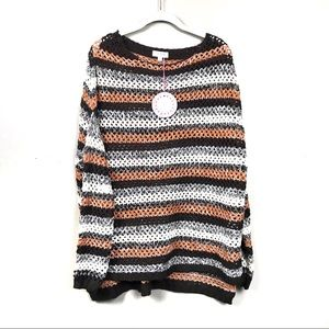 New with tags Umgee rust stripe sweater Oversize s